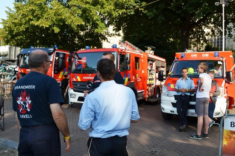 Service d'incendie Ravels au Sablon le 21 juillet