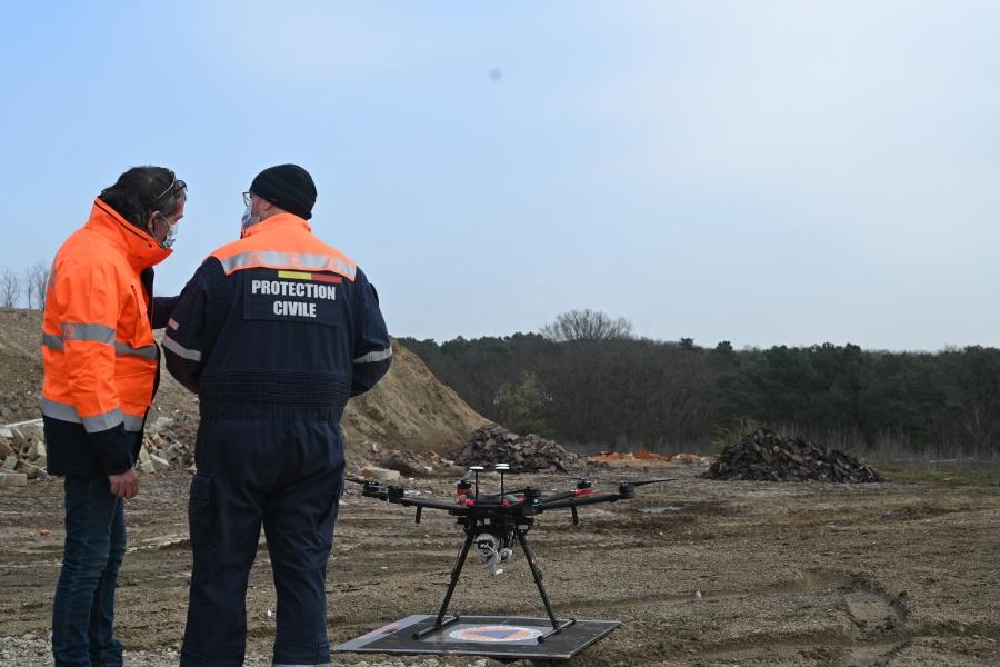 Envol du drone © Geert Biermans